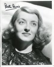 Bette Davis Autograph Actress Jezebel Kid Galahad Signed Photo