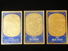 Lot of (3) Diff. 1965 Topps Embossed Baseball Cards-Bouton, Richardson, Kubek