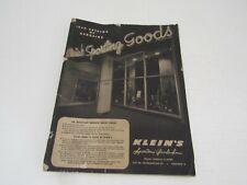 Vintage Hunting Price Guide Catalog 1950 Klein'S Sporting Goods Fishing Guns