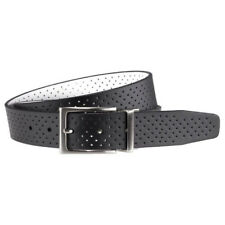 NIKE GOLF MEN'S PERFORATED REVERSIBLE BELT SIZE W36 (FITS 34) BLACK/WHITE 17960