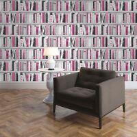 ROSA MODA Estante Para Libros de Biblioteca Papel Pintado - Muriva 139501