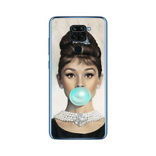 Funda gel dibujo Audrey Hepburn para Xiaomi Redmi Note 9 s pro