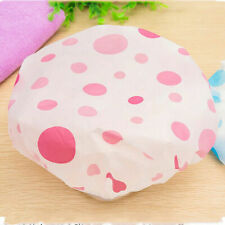 3X Reusable Elastic Waterproof Shower Cap Bath Head Hair Cover Salon Shower Cap
