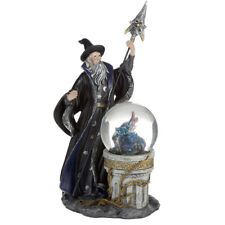 More details for  spirit of the sorcerer - ice dragon wizard snow globe waterball