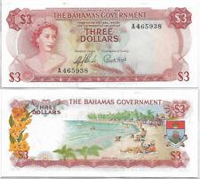 Bahamas 1965 3$ Three Dollars Banknote Elizabeth II AU P-19a