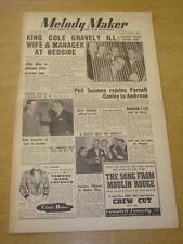 MELODY MAKER 1953 JUNE 6 NAT KING COLE JAZZ JAMBOREE AMBROSE DICKIE VALENTINE +