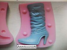 3d Mujer Botas Zapatos Molde de silicona Tope Magdalena Pasta de Azúcar Helado