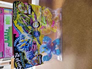 Opened Package Heroes of Goo Jit Zu Dino X-Ray Versus Pack - Tritops vs Shredz