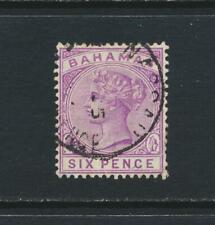 BAHAMAS 1890, 6d WMK CA P14, VF USED SG#54 CAT£38 $50 (SEE BELOW)