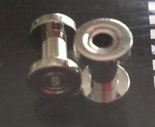 STEEL TUNNEL Externally Threaded Pair 4G Ear Piercing Jewelry NEW & UNOPENED