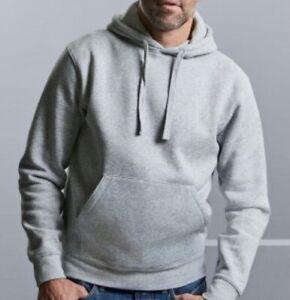 Russell Authentic Hooded Sweatshirt Light Oxford Grey Medium 265M