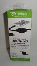 Retrak Charge & Sync Retractable Lightning To Usb Cable