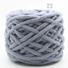 Light gray Thick soft Cotton Worsted Bulky Crochet Knitting Polyester Blend Yarn
