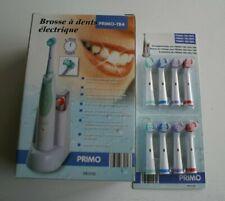Brosse à dents électrique PRIMO-TB4 avec 4 brosses + 8 brosses de rechange neuf