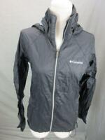 Columbia Size S Womens Black Athletic Full Zip Hooded Windbreaker Jacket T027