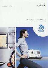 Prospetto Knaus roulotte 2003 SPORT opuscolo Caravan brochure CAMPEGGIO Trailer