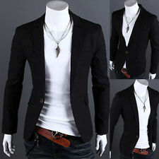 Fashion Men's Slim Fit Formal Casual One Button Suit Blazers Male Coat Jacket XL