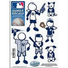 1 NEW 5'' x 7'' SHEET OF 6 MLB NEW YORK YANKEES FAMILY DECALS BASEBALL
