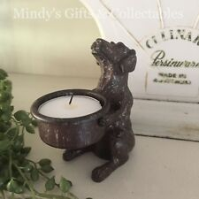 Cast Iron Brown Dog Tealight Candle Holder Place Table Setting Wedding Ornament