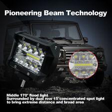 "4inch 4"" 60W Triple LED Work Light Bar Spot Flood Row Driving Lamps waterproof"