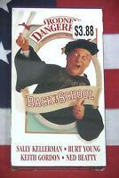 NEW Back to School (VHS, 1986) Rodney Dangerfield, Sally Kellerman Comedy SEALED