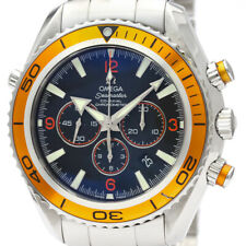 Polished OMEGA Seamaster Planet Ocean Chronograph Steel Watch 2218.50 BF500124