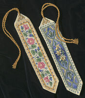 """""""Gold Collection Bookmarks Counted Cross Stitch Kit-9"""""""" Long 14 Count Set Of 2"""""""