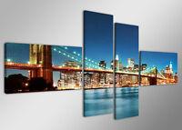 Tableau Déco Ville New York Paysage 4 partie Image sur toile 160 x 70cm