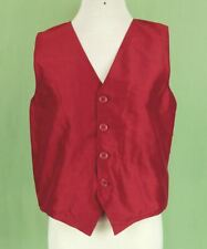 242 Strasburg boy holiday  100% SILK vest red sleeveless EUC 8