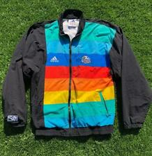 Rare VTG 90s Adidas Kansas City Wizards Striped MLS Soccer Jersey Jacket M/L
