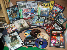 Lot of 22 - SONY PLAYSTATION PS2 PS1 - SIMS, GUN, LORD OF RINGS, SRS, NBA