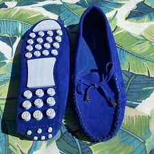 Size 8M - MISBEHAVE Womans Colbalt Blue Driving Moccasin Shoes Comfort Flats