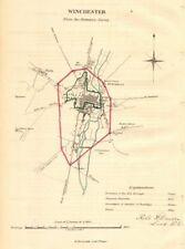 WINCHESTER borough/town plan. REFORM ACT. Weeke. Hampshire. DAWSON 1832 map