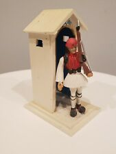 Vintage 1960s Greek Evsona Guard House Soldier Aohna Athens Made Greece