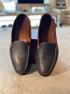 Allen Edmonds Black/Brown Boulder Venetian Driving Loafers  Mens 9.5  EEE