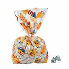 Patriotic Emoji Cellophane Bags - Party Supplies - 12 Pieces
