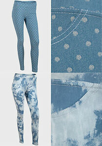 NEW EX CHAINSTORE BLUE LADIES JEGGINGS/ LEGGINGS/ TROUSERS  SIZE S-XL
