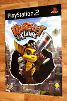 2002 Ratchet & Clank Game Store Very Rare Promo Poster Playstation 2 PS2