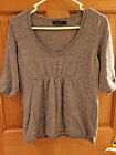 The Limited Womens Sz L Gray Tunic Sweater 3/4 Sleeve Wool Blend Size Large bx19