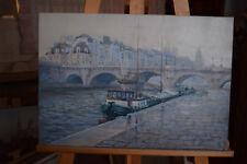 Russian oil canvas Impressionism Paris Landscape Demidov Alexander п-20