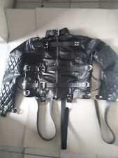 Cuir véritable Heavy Duty Rembourré Corset Clubwear Straight Jacket Bondage no