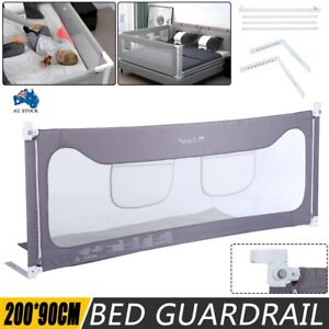 200CM Height Adjustable Folding Kids Safety Bed Rail/ BedRail Cot Guard Protecte