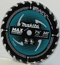 "Makita B-61656-1 7‑1/4"" 24T Carbide‑Tipped Ultra‑Thin Kerf Circular Saw Blade."