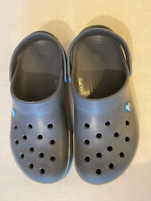 MENS CROCS CROCBAND II RELAX FIT GREY/BLUE SHOES SIZE M9 W11 UK 9 ADULT