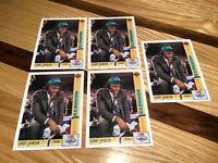 New Lot 5 LARRY JOHNSON 1991-1992 Upper Deck Rookie Card (RC) Hornets Basketball