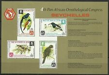 Seychelles Ornithology Flycatcher Sunbird White Eye Black Parrot Birds ** 1976