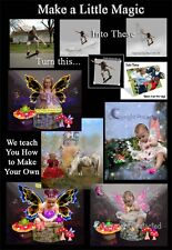 MAGICAL FAiRyTaLe FANTASY DIGITAL PHOTOGRAPHY BACKGROUNDS KIT on 2 DVDs+MORE <+>