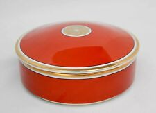 """Vintage Medaillon d'Or Fitz and Floyd Red Bowl with Lid, 6"""" diameter by 2"""" deep"""