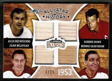 2016 Leaf Lumber Kings All Star History Howe Delvecchio Beliveau Geoffrion /15