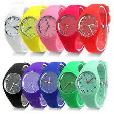 Geneva Women Ladies Girl Soft Jelly Silicone Analog Quartz Sports Wrist Watch UK